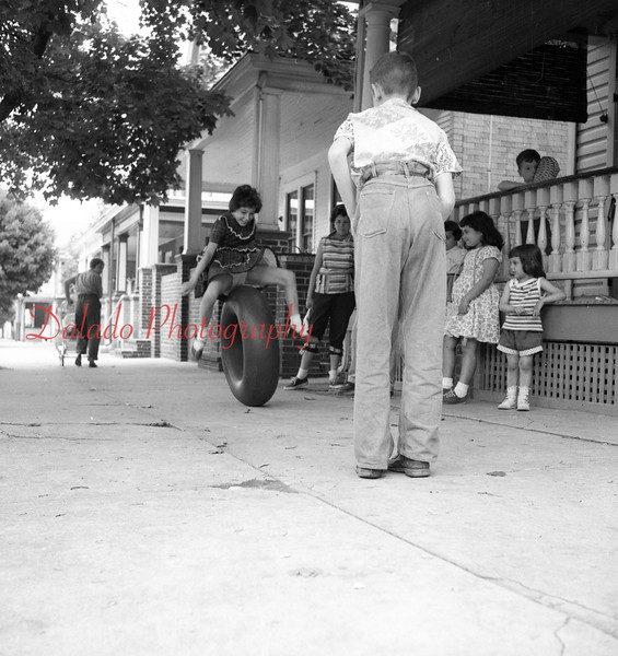 (1956) Tire roll.