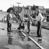 (1957) Fire demonstration in Mount Carmel.