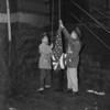 (April 1957) Flag raising.