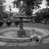 (Aug. 1957) Kids and a fountain.