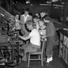 (Aug. 1954) Children visiting the Shamokin Citizen.