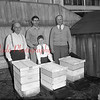 (04.19.1951) Sixty years of bee raising and honey collecting. The dean of bee collectors, Joe Whitaker, left is shown on April 19, 1951. Shown with him are his son-in-law and grandson, Bob Kearney and young Raymond Kearney. On the right is Nathan Haupt.