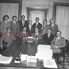(06.25.1955) Presentation of a check for $1,047,960 for proceeds from the sale of Shamokin Area Joint Building Authority bonds. Russell A. Tiltom Jr., second from left, seated, is shown presenting the check to W.H. Ressler. Taking park in the presentation are, seated, from left, Irwin Brodsky, Fred Lark, solicitor, and Eugene Cashner; standing are Dorothy Gibowicz, Leonard Fellon, Robert Leavens, Francis Reamer, Stephen Nairn, Robert Duncan and John Phillips.