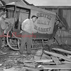 (1953) Men moving an old Reitz Meat sled.