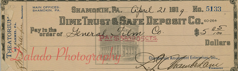 Dime Trust and Safe Deposit Co., Shamokin.
