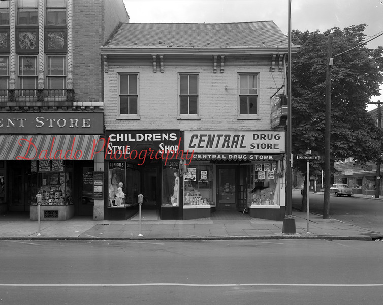 Central Drug Store at Eighth and Independence streets.