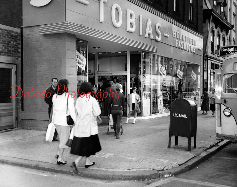 Tobias store along Independence Street.