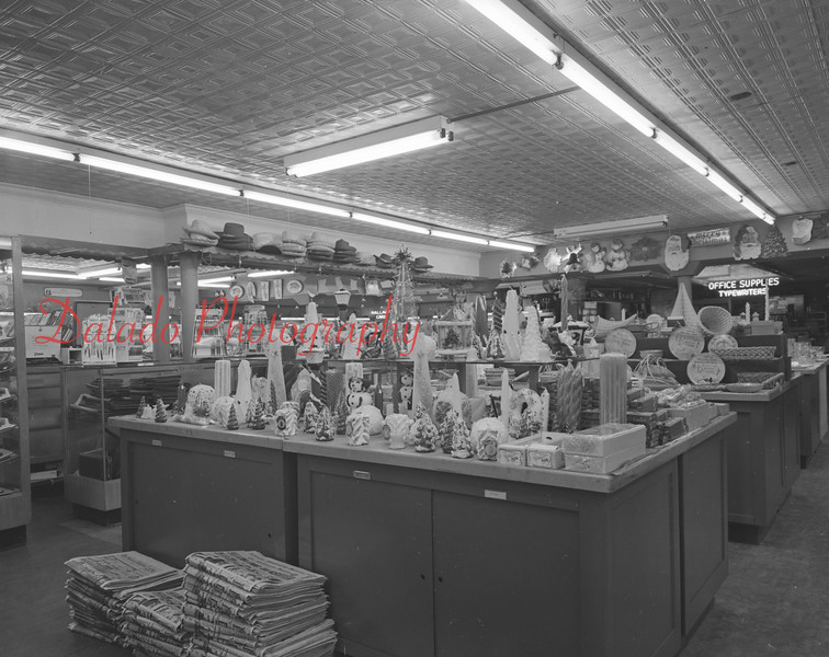 (12.04.1958) Interior of Wolfe's, now the Shamokin/Coal Township Public Library.