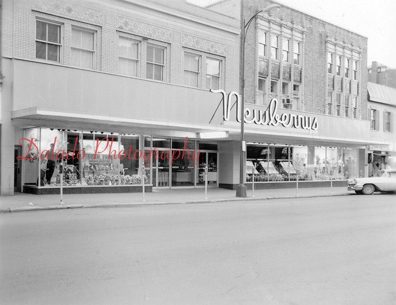 J.J. Newberrys- Near the corner of Independence and Eighth streets. A lunchestter opened in Newberrys on July 9, 1962.
