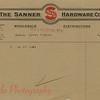 Sanner Hardware letterhead.