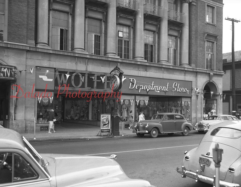 (1952) American Legion building, which housed Wolfe's. Wolfe's Department Store before the library, which was dedicated in June of 1967.