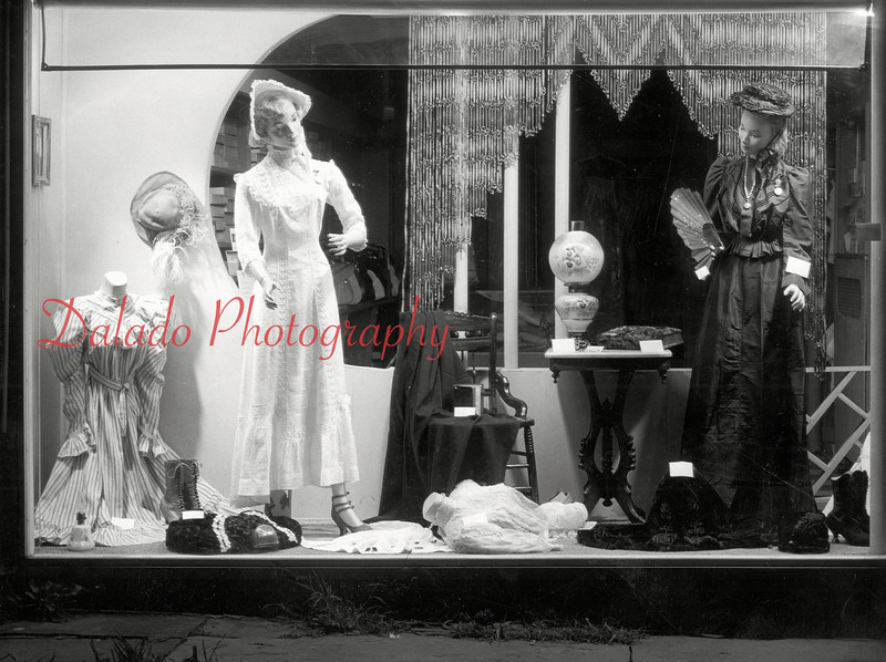 (1964) Store front of Millie's Dress Shop, which was located on Spruce Street.
