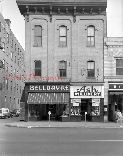Belldayre and Ash Millinery along Independence Street in Shamokin.
