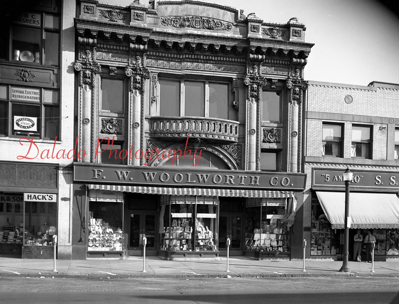 """(08.25.1949) Woolworths- This is where the first Victoria Threatre was located. Next to that was the """"5 and 10"""" store, which later became the Jupiter."""