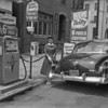 (June 1958) Advertisement for gas at a station along Market Street in Shamokin.
