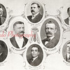Shown here in a souvenir booklet published in 1908 are the photos of P.H. Fuhrmann and Max Schmidt, founders of F&S, with the managers of bottling plants in Mount Carmel, Carlisle, Girardville, Harrisburg, Williamsport and Trevorton.