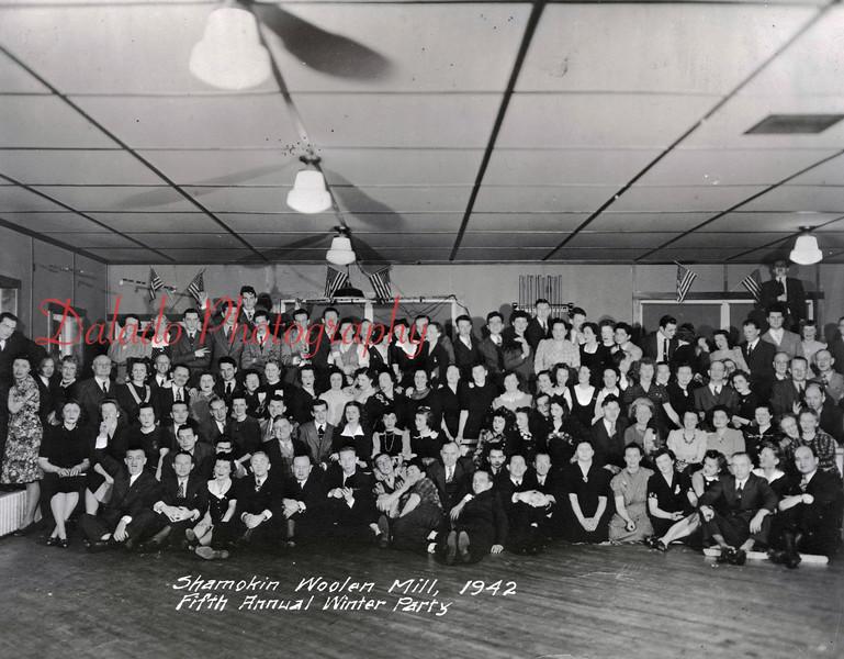 (1942) Shamokin Woolen Mill, fifth annual Winter Party.