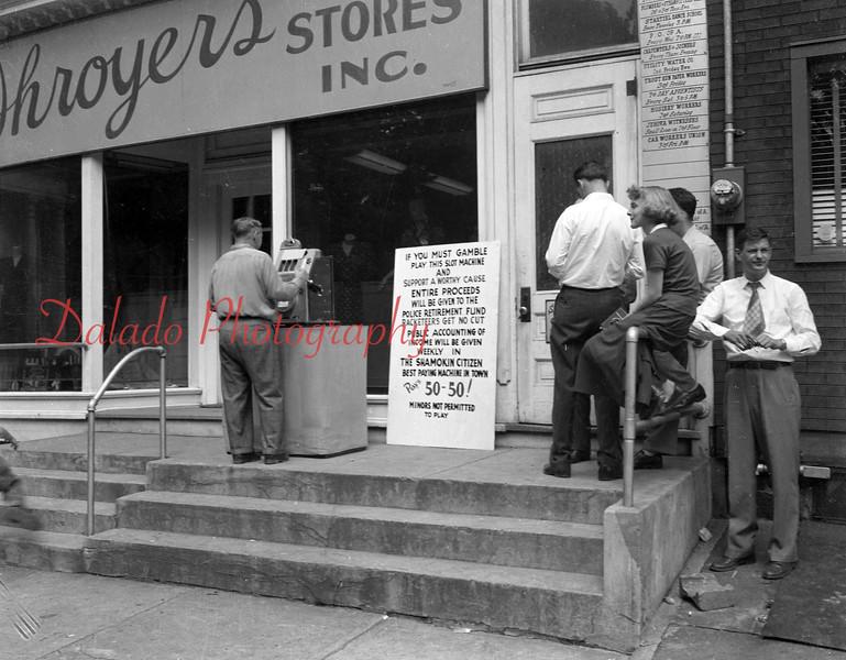 (1949) Shroyers Dress store along Market Street.