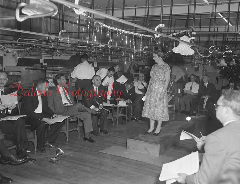 (Dec. 1959) Fashion show at Shamokin Dress Co.