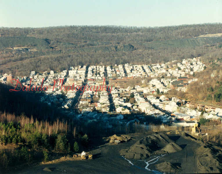 A modern-day shot of the Fifth Ward from Big Mountain.