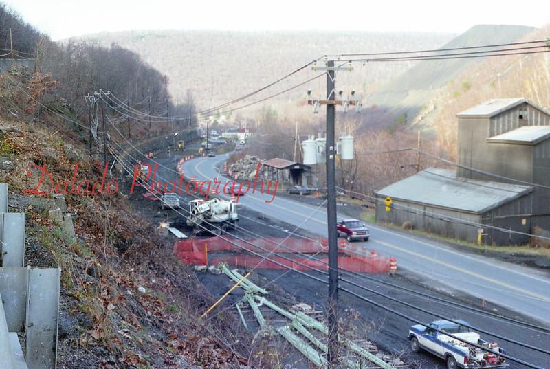 Shoulder work near the Glen Burn Colliery.