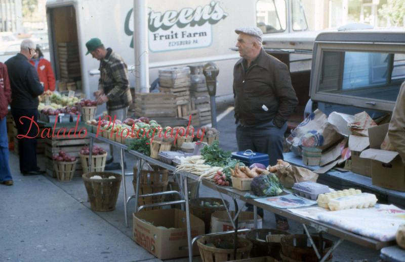 (Mid-1970s) Farmers Market in Shamokin.