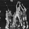 (1958) Shamokin versus Frackville basketball.