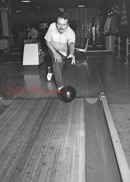(03.12.90) Crown Lane bowlers are Scott Campbell, Ray Bird and Dane Salivacki.