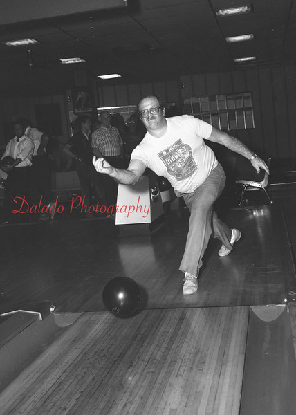 Bowling at Crown Lanes are Ron Marcheski, Allan Duncheski and John Miller.