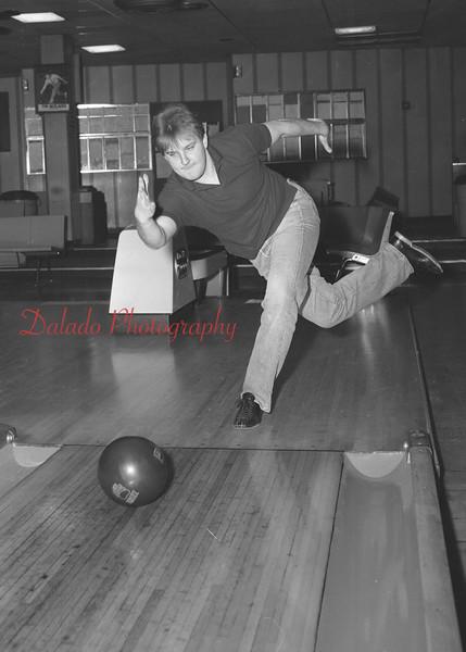 Bowling at Crown Lanes are Dean Chesney, Harry Schwartz, Bob Johnson and Greg Shedleski.