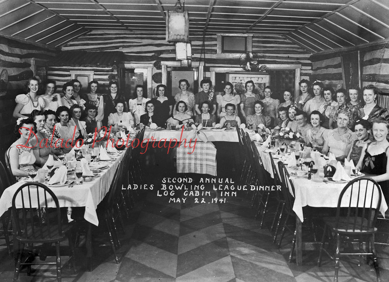 (05.22.41) Second annual Ladies Bowling League dinner.