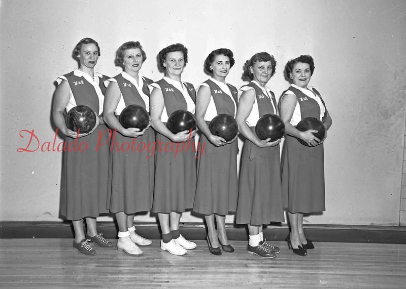 (11.10.55) F&S bowling team.