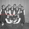 (Sept. 1954) CTHS football cheerleaders.