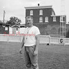 (09.19.1957) Shown in the Coal Township High School football stadium is Bernie Romanoski Sr.