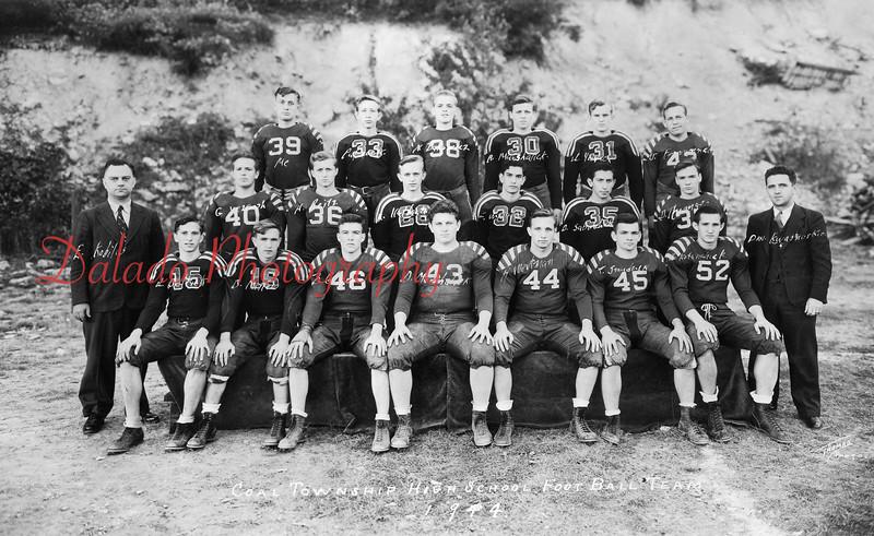 (1944) Coal Township High School football team.
