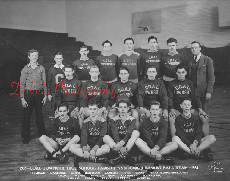 (1935) Coal Township basketball team.