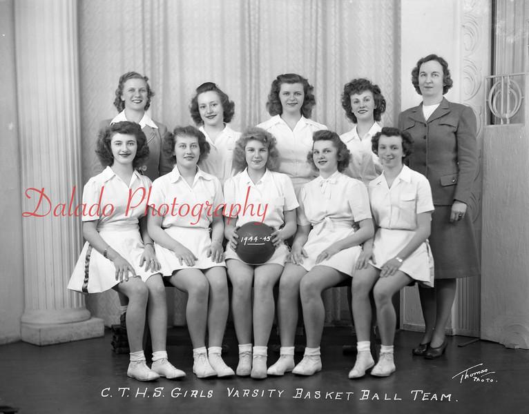 (1944-45) Coal Township High School girls basketball team.