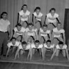 (04.21.55) Coal Township High School gym team are, front row, from left, Dick Albright, Robert Betz, Charles Rosini, Pat Bartol and Jack Rosini, second, Robert Hite, Joseph Mihalik, Richard Ebersole and Robert Hert; third, Don Burkey, Blaine Apie, Ron Berkheiser andAndy Silock, coach.