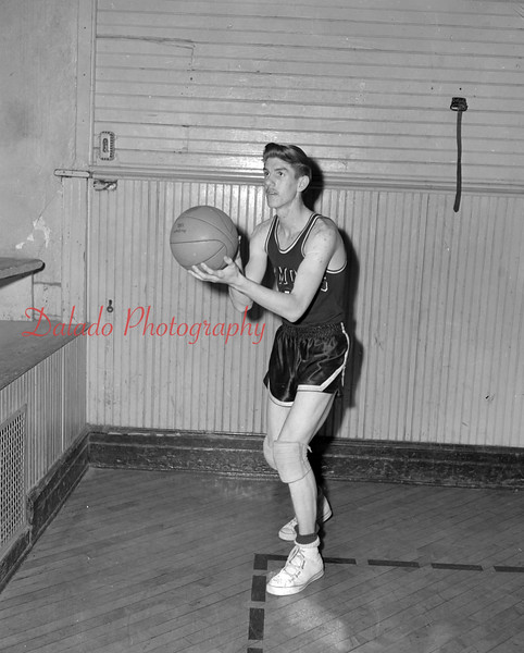 (03.04.54) Carl Olley, player for Coal Township High School.