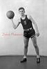 1944-45 Coal Township High School basketball team player: Zaneski.