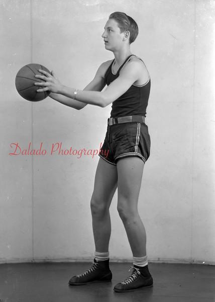 1944-45 Coal Township High School basketball team player: Balchunis.