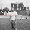 (09.19.1957) Shown in the Coal Township High School football stadium is Bernie Romanoski Sr.