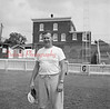 (09.19.1957) Shown in the Coal Township High School football stadium is an unknown coach.
