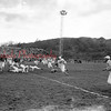 (Dec. 1954) Coal Bucket trophy is awarded to the Red Tornadoes following their 31-13 win over Shamokin.