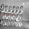 (Sept. 1954) Football cheerleaders, maybe CTHS.