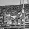 (July 1959) More than 20,000 football fans traveled to Hershey Stadium to watch 33 young Keystone State gridders win over some of the nation's top football talent.  Two of the big men up front were Bernie Sabol, of Coal Township, and Keith Hinkle, of Ashland. Among the gridders from the 1958 Big Team who received congratulations from Coach Bernie Biermann was Joseph Pesansky, ex-Shamokin Catholic High School star who is now at University of Richmond.  Coach Bernie Biermann, of Minnesota fame, is surrounded by the stars who gave him a Big 33 triumph in last year's game. The ailing grid great was unable to assume the coaching chores, but was honored. Raising the flag are Rusty Curtis and Cindy Byerly.  Gov. David Lawrence helped cheer state high school gridders to their win.