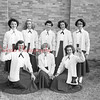 (1953) Kulpmont Cheerleaders- Kulpmont Cheerleaders are shown on Sept. 13, 1953. Pictured are, kneeing, from left, Jean Lazarski, Stella Alexis and Eleanor Posco; standing, Shirley Orlando, Donna Paulnock, Grace Varano, MaryAnne Bartos and Joann Pupo.