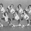 "(March 1961) In traveling to the basketball invitational tournament in Bloomsburg this week, the cheerleaders from Mount Carmel High School will conclude their ""rah-rah-rahs"" for another school year. Pictured are, front row, from left, Debbie Andreano, Carol Adzeima, Cynthia Guarana, Maria Socoloski and Phylis Paskevich; back., Jean Sabol, Lois Mauer., Janet Williams and Carolyn Repko. Absent was Shirley Greco."