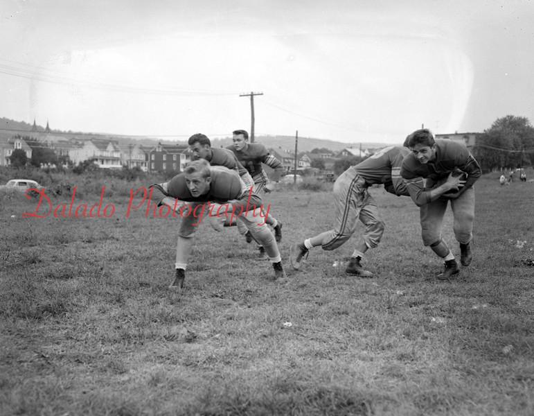 (Oct. 1955) Football, Mount Carmel.
