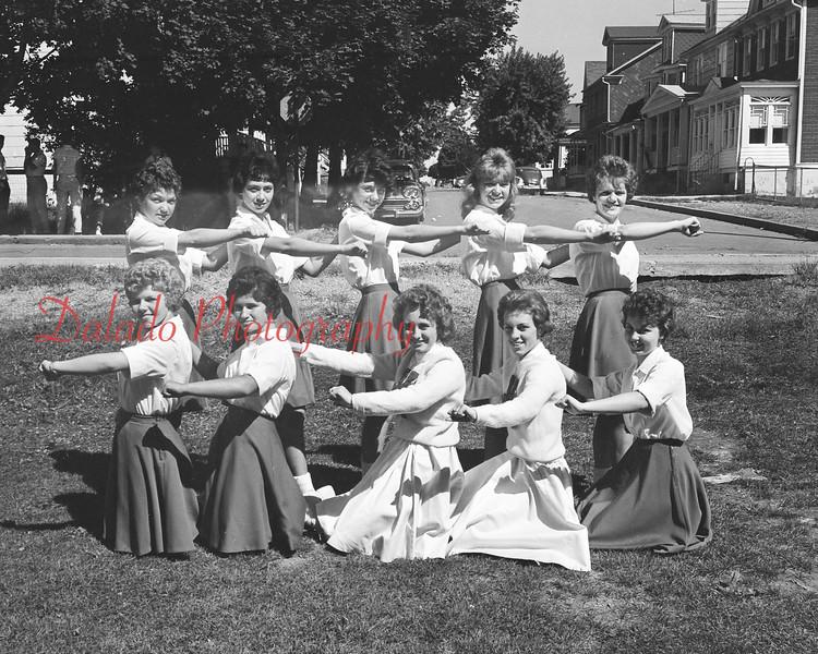 (Sept. 1960) Mount Carmel cheerleaders.